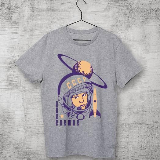 Camiseta Roscosmos CCCP cinza
