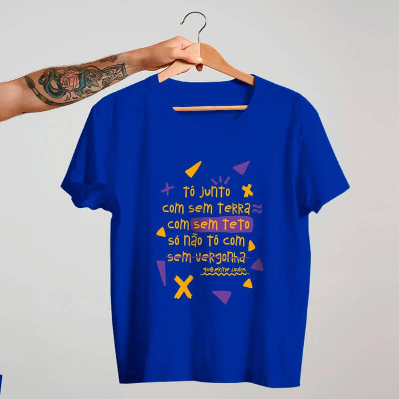 Camiseta azul To junto com sem terra, com sem teto, só não to com sem vergonha - Boulos