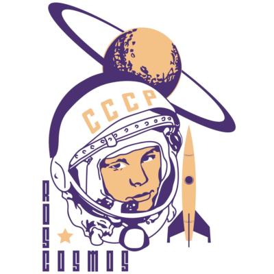 Camiseta Roscosmos CCCP -ilustração