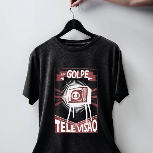 Camiseta Rede Golpe de televisão chumbo