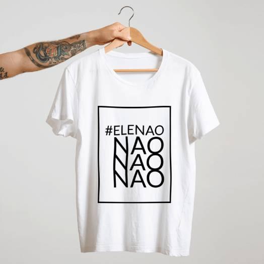 Camiseta #Elenão branca