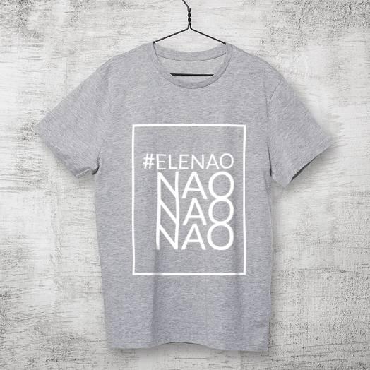 Camiseta #Elenão cinza