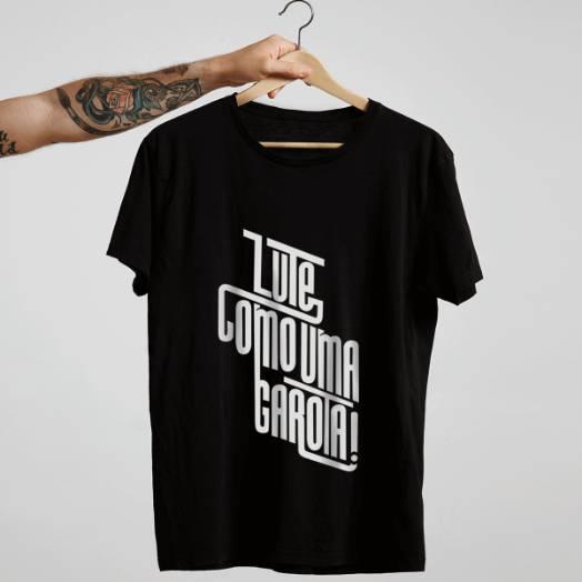 Camiseta lute como uma garota Preta