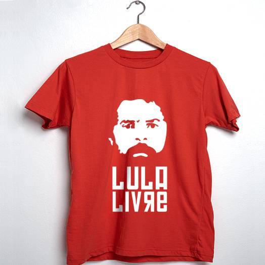 Camiseta Lula Livre Vermelha