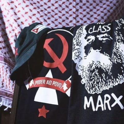 Camiseta algodão Poder ao Povo e Marx