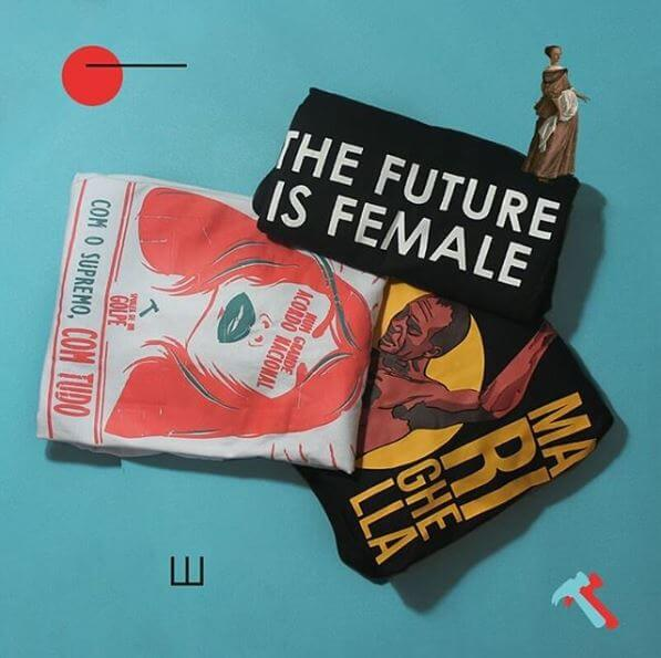 Camiseta The future is female, Marighella, Com o supremo