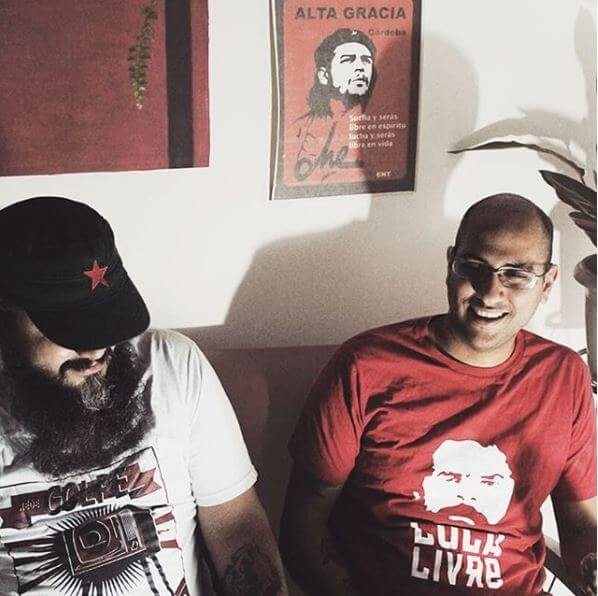 Camiseta algodão Rede Golpe e Lula Livre 2