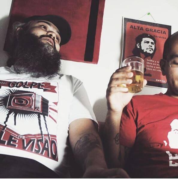 Camiseta algodão Rede Golpe e Lula Livre