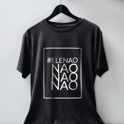 #Elenão camiseta chumbo