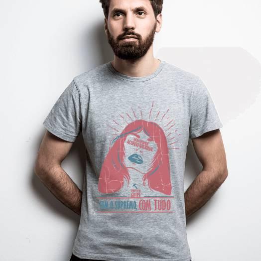 Camiseta Spoiler - Num grande acordo nacional, com o supremo com tudo Cinza