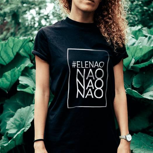Camiseta #Elenão preta