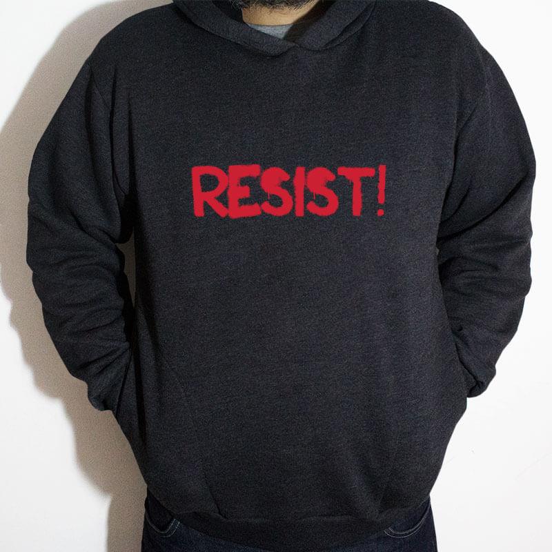 Blusa moletom com capuz - Resist Chumbo Frente