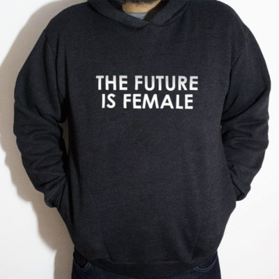 Blusa moletom com capuz - The Future is female Chumbo