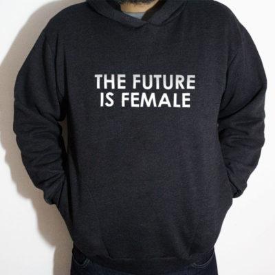Blusa moletom com capuz - The Future is female Chumbo