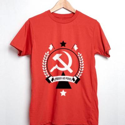 Camiseta Comunismo Poder ao povo vermelha