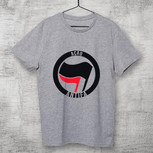 Camiseta Antifa Cinza