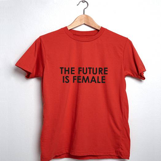 Camiseta The future is female vermelha