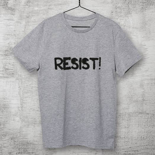Camiseta Resist cinza