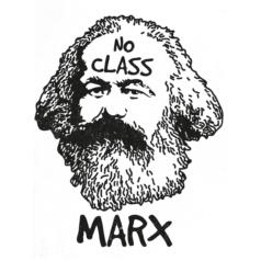 Ilustração Karl Marx No class
