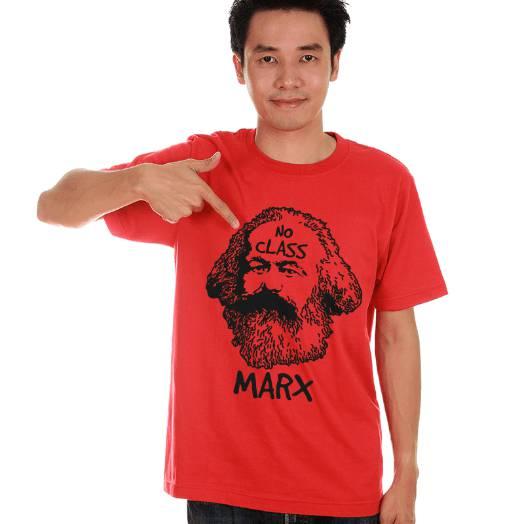 Camiseta Karl Marx No class Vermelha