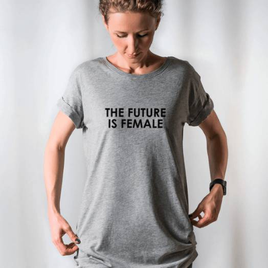 Camiseta The future is female cinza