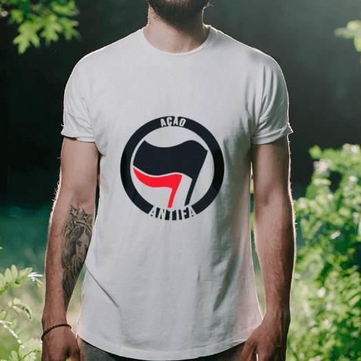 Camiseta Antifa Branca