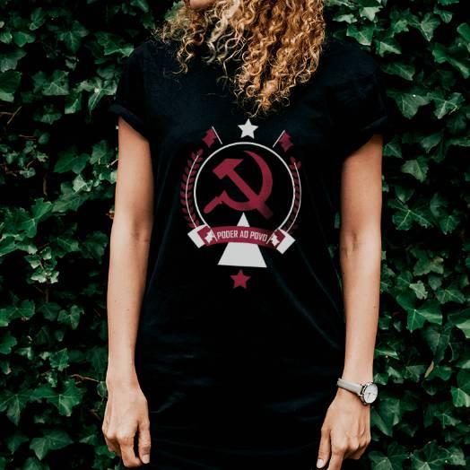 Camiseta Comunismo Poder ao povo preta