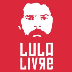 Ilustração vermelha Lula Livre