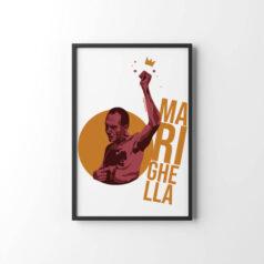 Poster Carlos Marighella por Alinne Martins