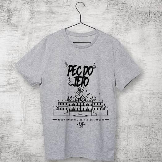 Camiseta Pec 241 do teto cinza - Museu Nacional do Rio de Janeiro