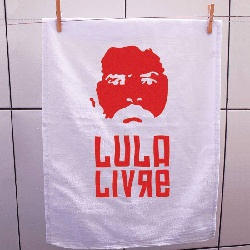 Pano de prato Lula Livre