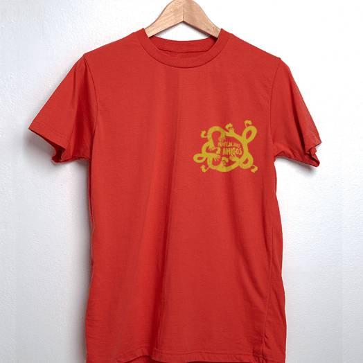Camiseta Proteja seus amigos vermelha