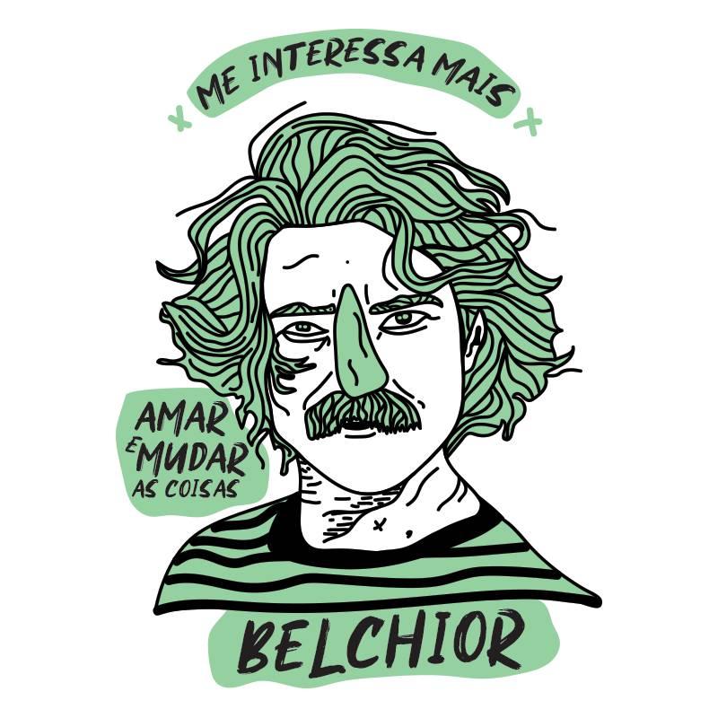 Camiseta Belchior ilustração