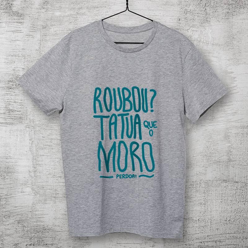 Camiseta Moro e a anticorrupção cinza