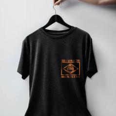 camiseta chumbo bandeira laranja