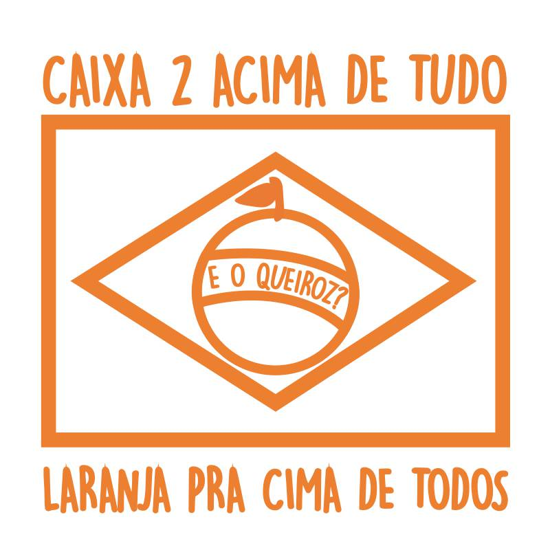 Ilustração bandeira laranja