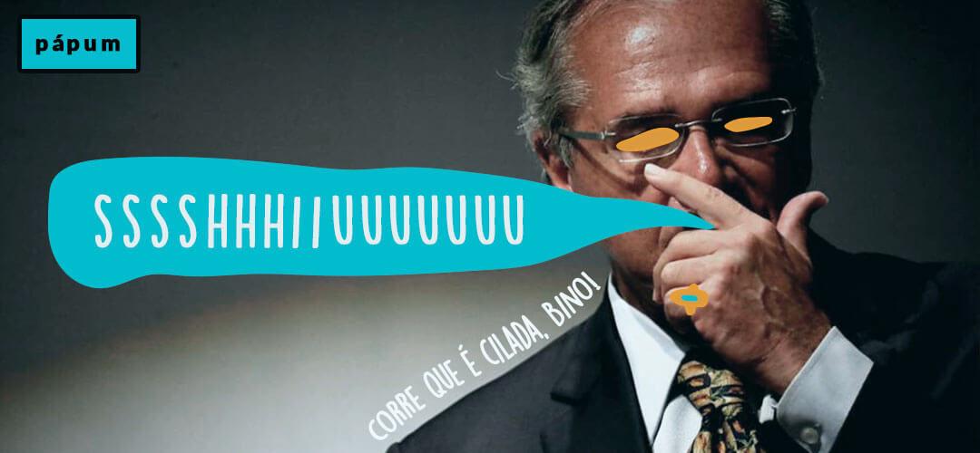 Ministro Paulo Guedes arrega e não aparece em reunião da CCJ