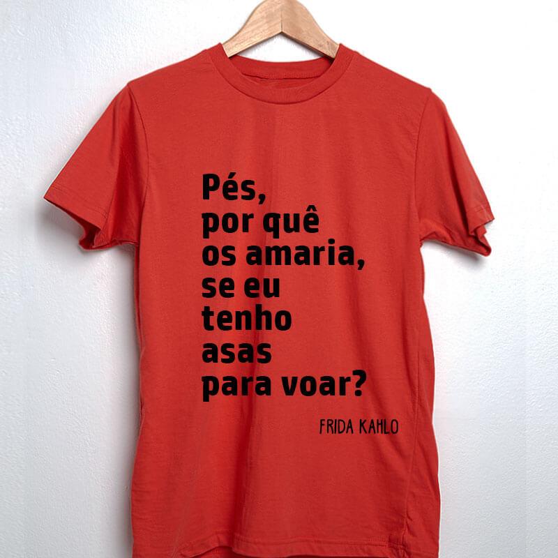 Camiseta-Vermelha-Pés,-por-quê-os-amaria,-se-eu-tenho-asas-para-voar