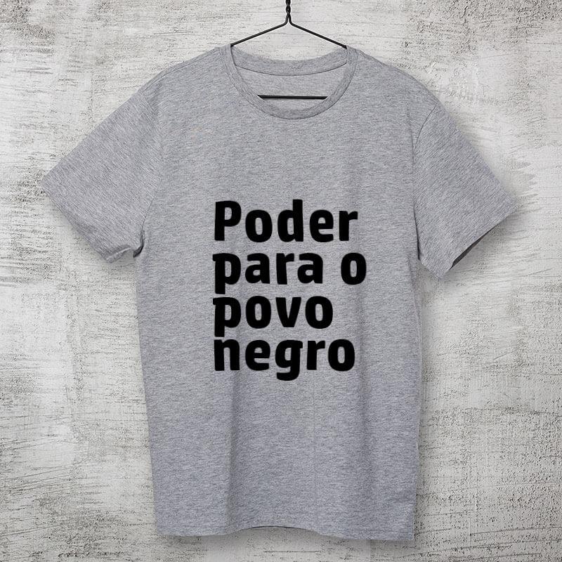 Camiseta-cinza-Poder-para-o-povo-negro