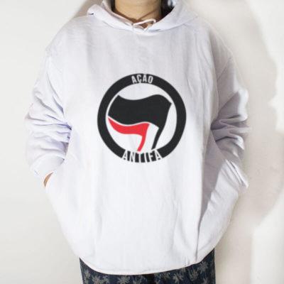 Blusa moletom com capuz - Ação Antifa