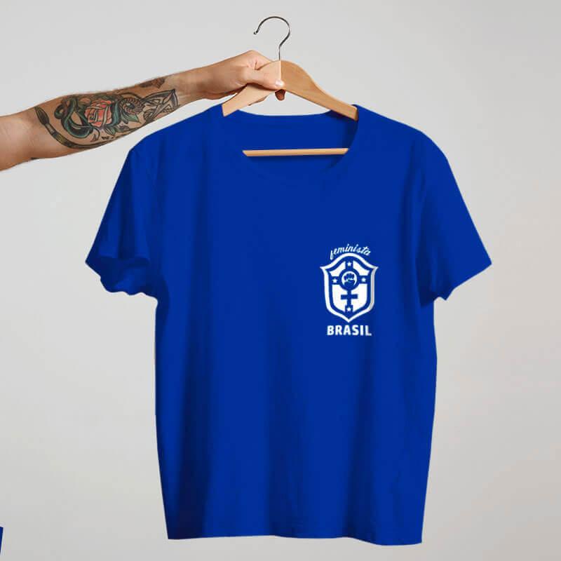 Camiseta Seleçao feminina Azul Marta