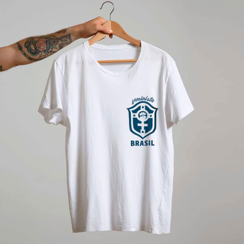 Camiseta Seleçao feminina branca Marta