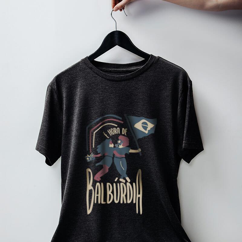 Camiseta Hora de balburdia Chumbo