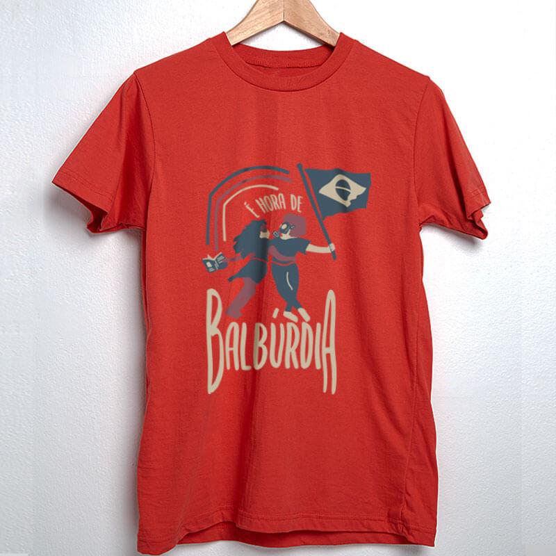 Camiseta Hora de balburdia Vermelha