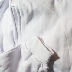 Moleton com capuz de algodão Branco