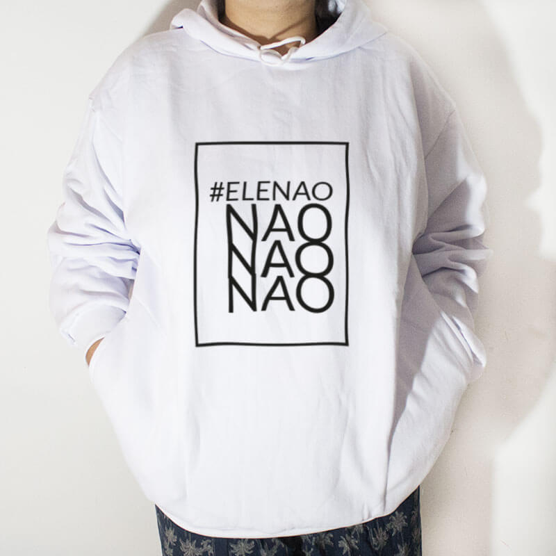 Blusa moletom com capuz - #elenao