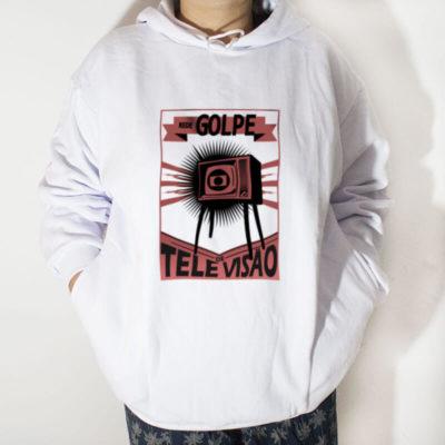Blusa moletom com capuz - Rede Golpe de televisão