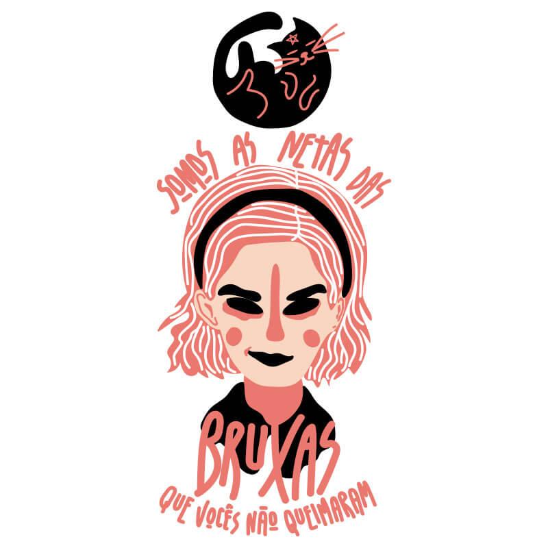 Ilustração de Alinne Martins, Sabrina Spellman