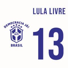 Ilustração Seleção Brasileira Lula livre por Alinne Martins
