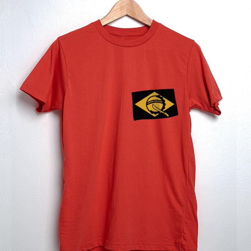 Camiseta vermelha Poder Popular do Brasil